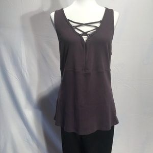 TORRID Ribbed Criss Cross Neckline Tank Top